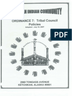 Ketchikan Indian Community Ordinance 7 Tribal Council Policies