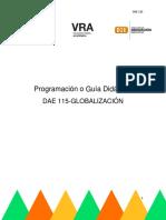 Programacion Didactica Globalizacion