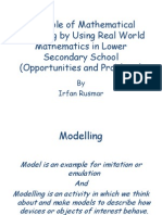 Irfan Rusmar Presentation About Modelling and Application in Mathematics Education