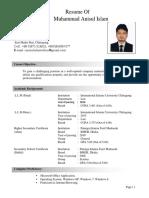 CV  of Anis