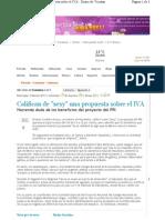 """05-02-11 Califican como """"Sexy"""" una propuesta sobre el IVA"""