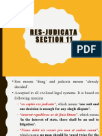 Section 11 Res Judicata