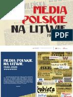 """WYSTAWA """"POLSKIE MEDIA NA LITWIE 1944-2020"""""""