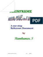 MAINFRAME ABEND CODES and DETAILS - All in one