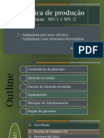 SOLDADURA COM ELÉTRODO REVESTIDO