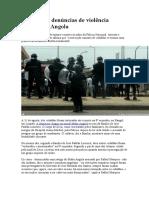 Aumentam denúncias de violência policial em Angola