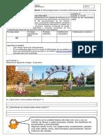 Guía de trabajo domiciliario de Ciencias para Séptimo Básico