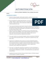 SESIÓN 4. AUTOMOTIVACIÓN