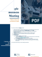Simple Business Meeting by Slidesgo