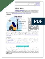 Tema Enem, Vestibulares, Atualidades - Saúde mental em tempos de pandemia.