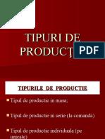 TIPURILE  DE  PRODUCTIE