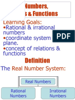 Lecture 1.1 Real No , Relation & Functions