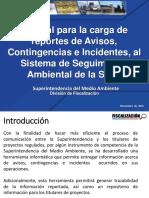 Tutorial Carga Avisos, Contigencias e Incidentes