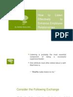 Effective Listening 7
