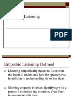 Effective Listening 9 - Empathic Listening