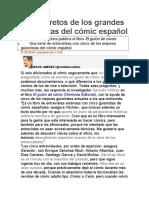 Los secretos de los grandes guionistas del cómic español