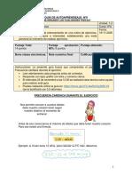 Guía de trabajo domiciliario de Educación Física para 6° básico