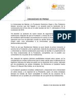 Comunicado de Prensa Fsvsc-nebrija - 3 de Diciembre