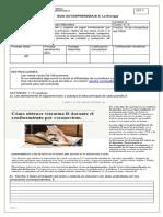 Guía de trabajo domiciliario de Ciencias Naturales para 6° Básico