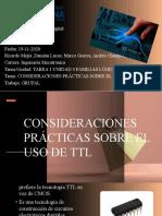 CONSIDERACIONES PRÁCTICAS SOBRE TTL (Grupo 4)