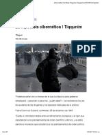 La hipótesis cibernética | Tiqqunim