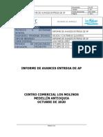 INFORME DE AVANCES ENTREGA DE AP