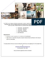 Job Advert - 03.12.2020
