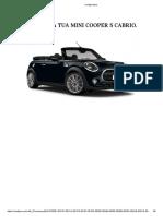 Configurazione Mini Copper S Cabrio Boost