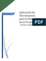 Proyecto Aplicación de Herramientas Para La Planeación de La Producción. Nov 2020