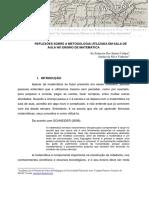 REFLEXÕES SOBRE A METODOLOGIA UTILIZADA EM SALA DE