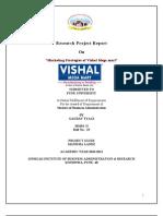 Project Report on Vishal Mega Mart