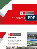 7.-Ley de Regulación de Hbailitaciones Urbanas y de Edificaciones-Abog.José Antonio Cerron Valdivia-DGPRVU