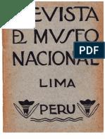 Revista Del Museo Nacional Tomo XXVIII