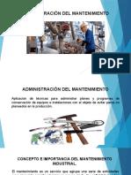 ADMINISTRACIÓN DEL MANTENIMIENTO UNIDAD I-1
