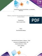 Plantilla de trabajo Paso 2  Programa informativo sobre políticas y programas internacionales en primera infancia 1