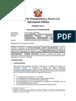 Resolución N° 010309192020 - Expediente 01272-2020-JUS/TTAIP _ 23 NOV 2020 - Infundado