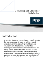 E- Banking and Consumer Satisfaction