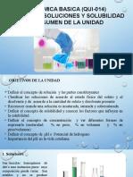 UNIDAD NO.5 TEORIA DE QUIMICA SOLUCIONES Y SOLUBILIDAD 2020-1