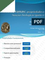 Aula 01 e 02. Membranas Biologicas pt1 e pt2 [PLE] [2020]