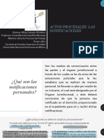 Derecho Procesal del Trabajo. Actos procesales. Las notificaciones