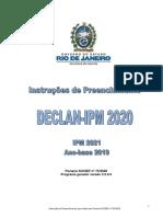 Instruções de Preenchimento da DECLAN-IPM 2020 ano-base 2019 - em 31 01 2020