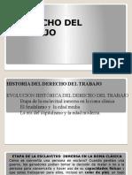 HISTORIA DEL DERECHO DEL TRABAJO