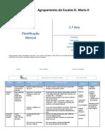 Planificações Mensais 1º ano 2015 - 16