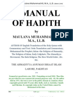 A Manual of Hadith by Maulana Muhammad Ali, M.a., LL.B. Lahore [1944]