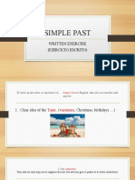 SIMPLE PAST -WRITTEN EXERCISE (1)