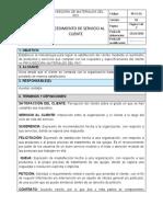 Documento - PROCEDIMIENTO DE SERVICIO AL CLIENTE.docx