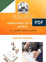GENERALIDADES DEL DERECHO NOTARIAL