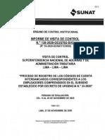 INFORME DE VISITA DE CONTROL Nº 138-2020-OCI-3793-SVC