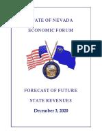 Economic Forum Projections - December 2020