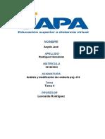 tarea 4 analisis y modificacion de conductas